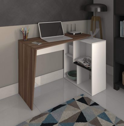 Escrivaninha Urban - Ipê/Branco