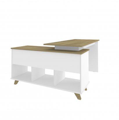 Escrivaninha Gold - Olmo/Branco